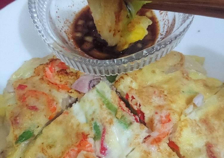 Resep: Seafood & Green Onion Pancake - aka Pajeon lezat