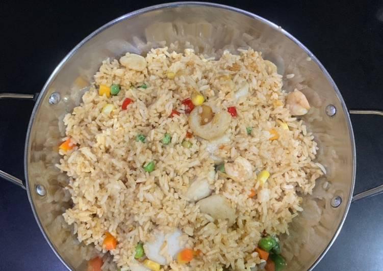Resep: Nasi goreng seafood yang zhou