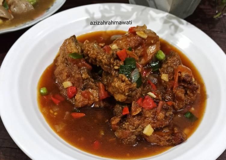 Resep: Ayam crispy rica rica ala RM seafood lezat