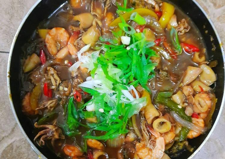 Resep: Seafood lada hitam/ Black Pepper Sauce sederhana istimewa