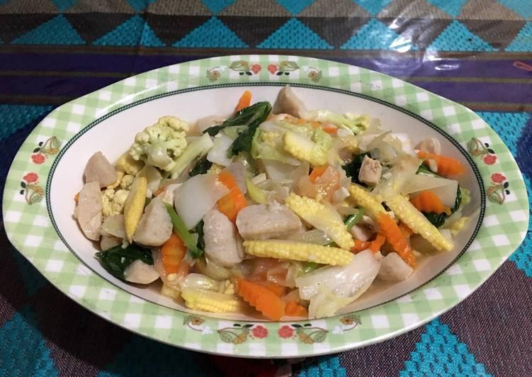 Cara mengolah Cap cay seafood