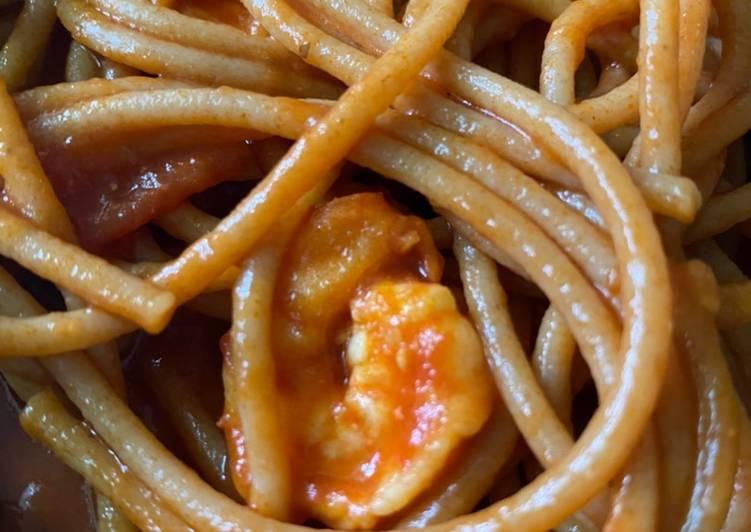 Resep membuat Spaghetti gandum marinara seafood istimewa