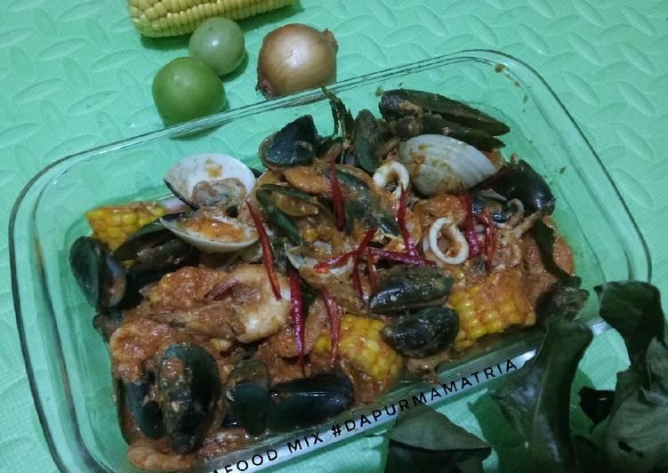 Resep memasak Seafood mix saos padang enak