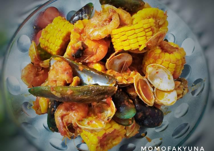 Resep: Seafood campur2 saus padang