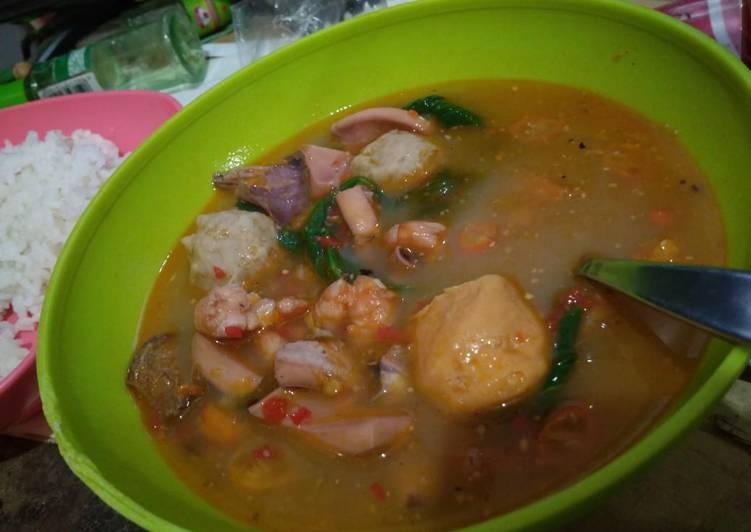 Cara Mudah memasak Tomyam seafood istimewa