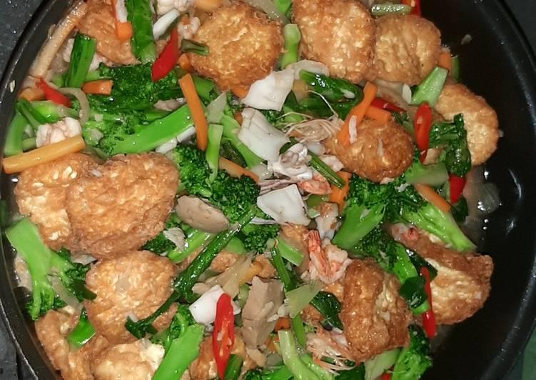 Resep: Sapo egg tofu brokoli seafood lezat