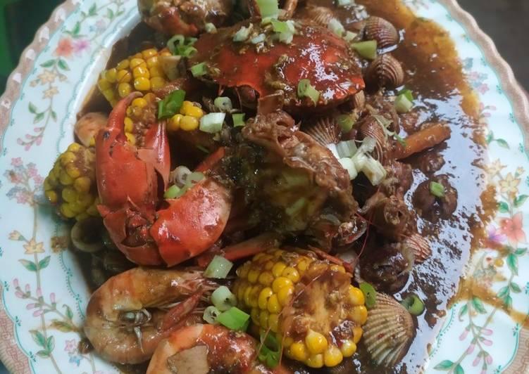 Cara memasak Seafood saus padang istimewa