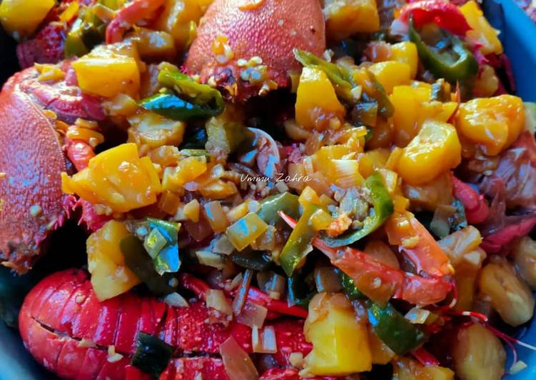 Resep: Seafood Sweet and Sour enak