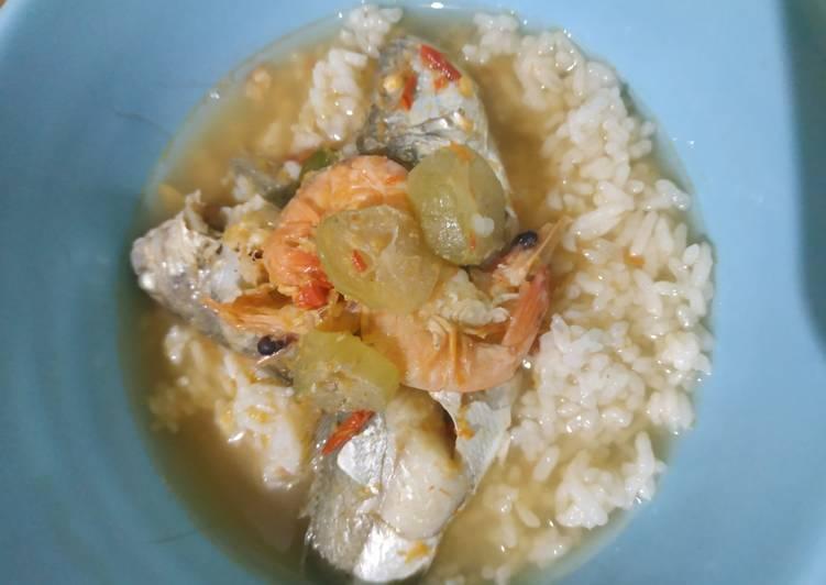 Resep memasak Kuah asem udang dan ikan laut (gelemah) istimewa