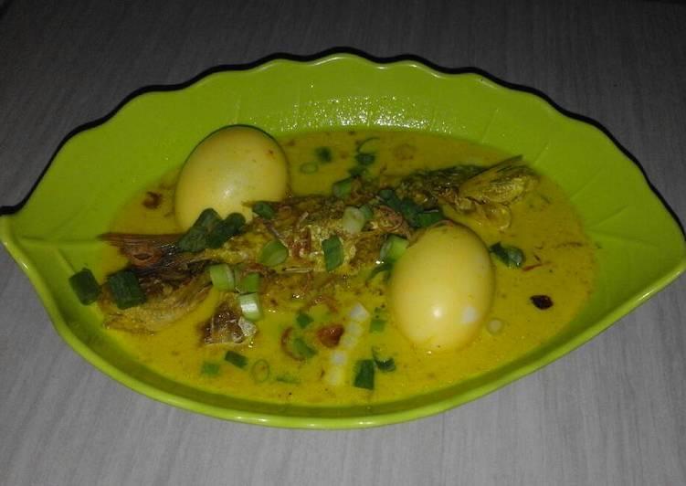 Resep: Ikan laut (jangki) kuah kuning khas jimbaran bali lezat