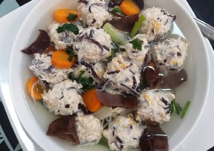 Resep: Bakso serabut tuna marlin