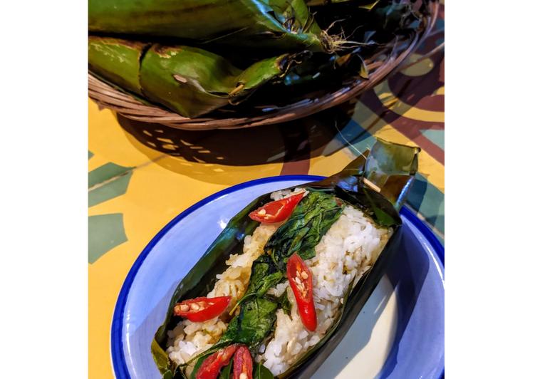 Resep: Nasi Bakar Ikan Pari lombok Ijo