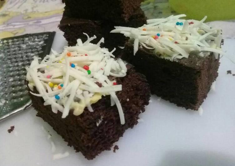 Resep: Brownies kukus tepung ketan putih