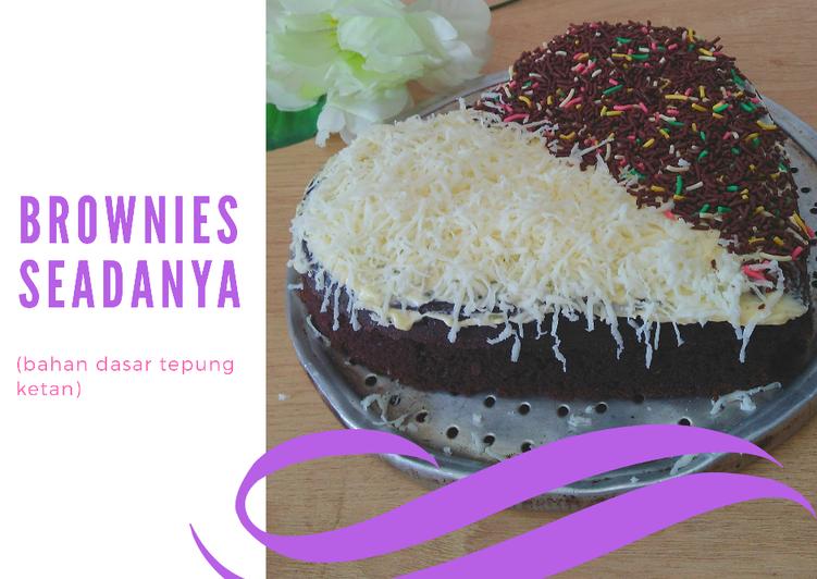 """Resep Brownies """"seadanya"""" (tepung ketan)"""