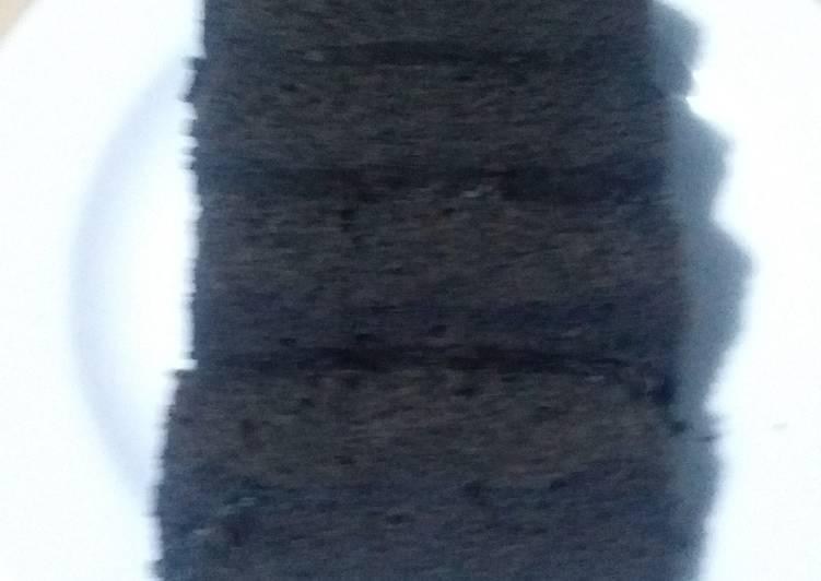 Resep: Brownies kukus ketan hitam