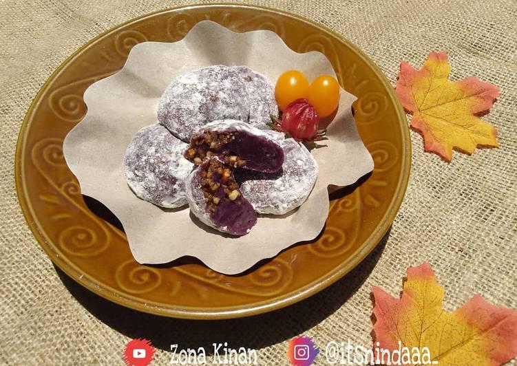 Resep: Kue Mochi Isi Kacang Tanah | Dimasak di Teflon - No kukus