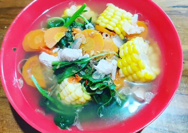 Resep Sup bayam bumbu bali