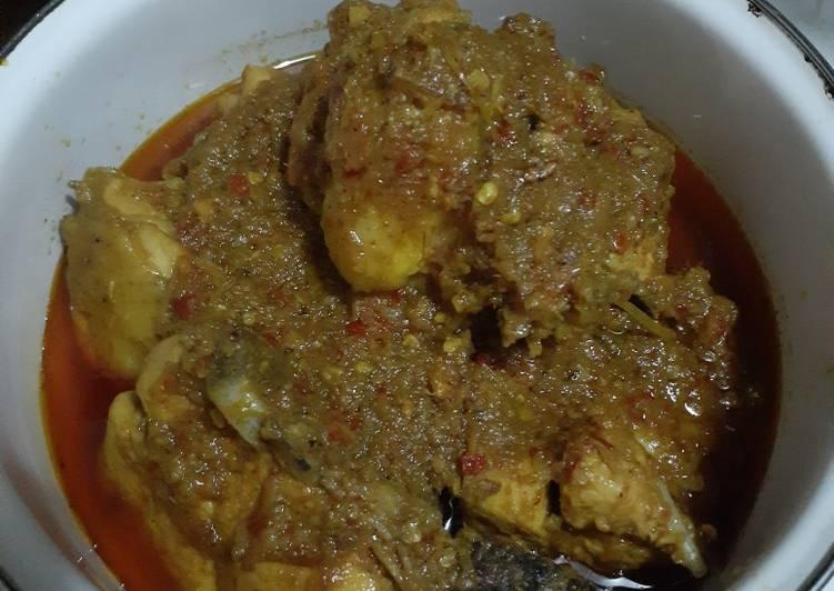 Resep: Ayam Betutu (versi setengah kilo ayam)