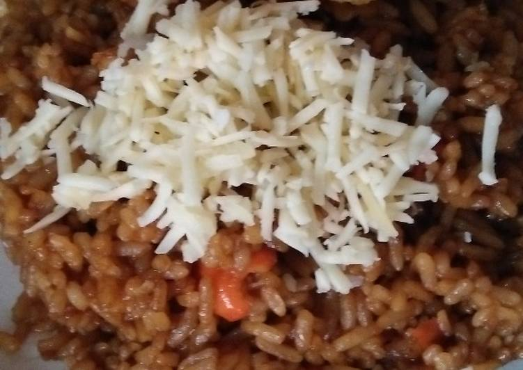 Resep: Nasi Goreng Keju Pedas Manis (resep sederhana, rasa juara)