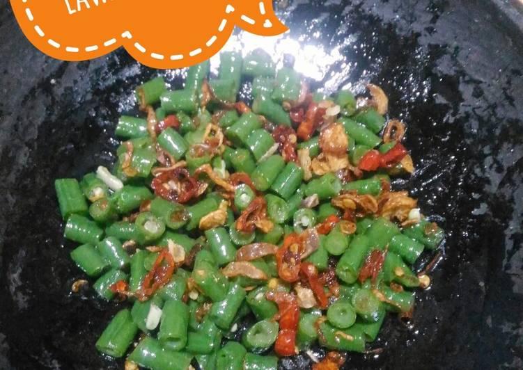 Resep Lawar Bali simpel(kacang panjang sambel sere mbe)