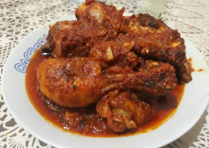 Resep Ayam ungkep goreng balado