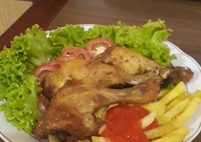 Resep: Ayam ungkep goreng