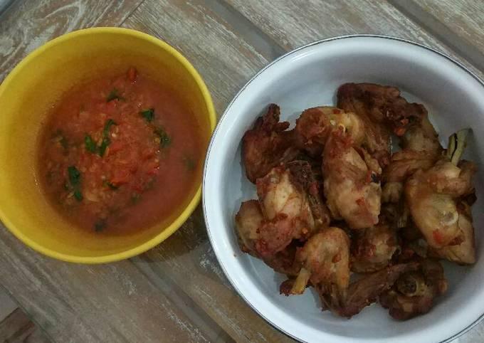 Resep Ayam goreng simpel dan sambel lamongan