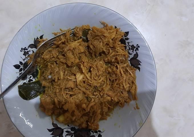 Resep Ayam suwir nasi krawu