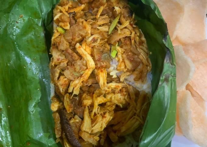 Resep: Nasi bakar liwet suir ayam jamur