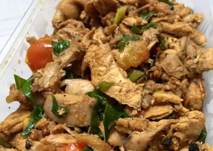 Resep: Ayam suwir kemangi