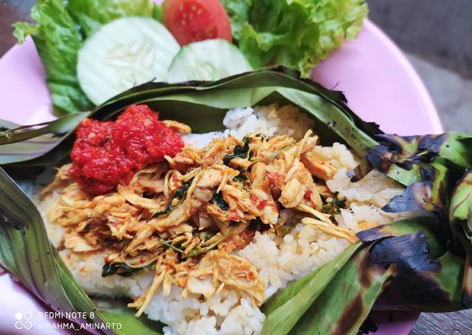 Resep: Ayam Suir Kemangi isian Nasi Bakar