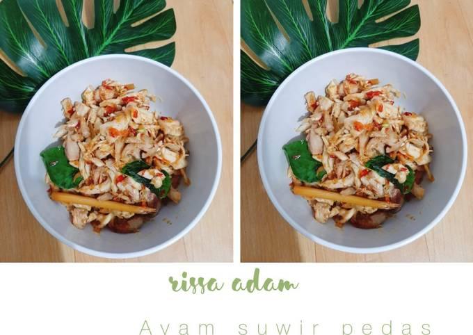 Resep Ayam suwir pedas (masakan sehari-hari)