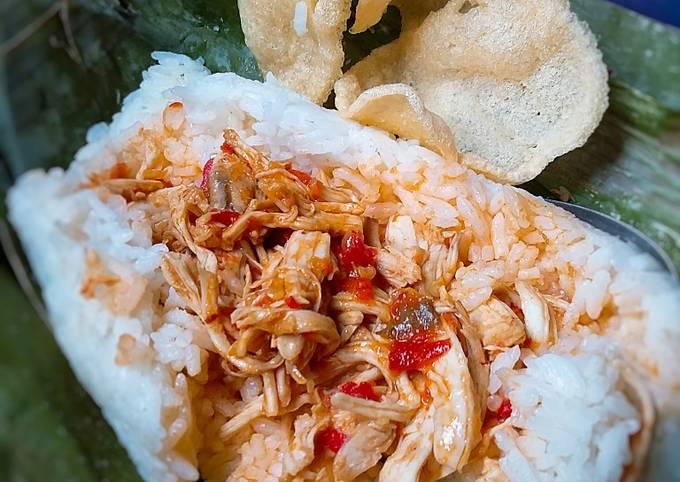 Resep: Nasi Bakar ayam suir pedas non MSG