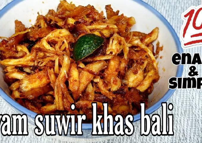 Resep: Ayam suwir khas bali