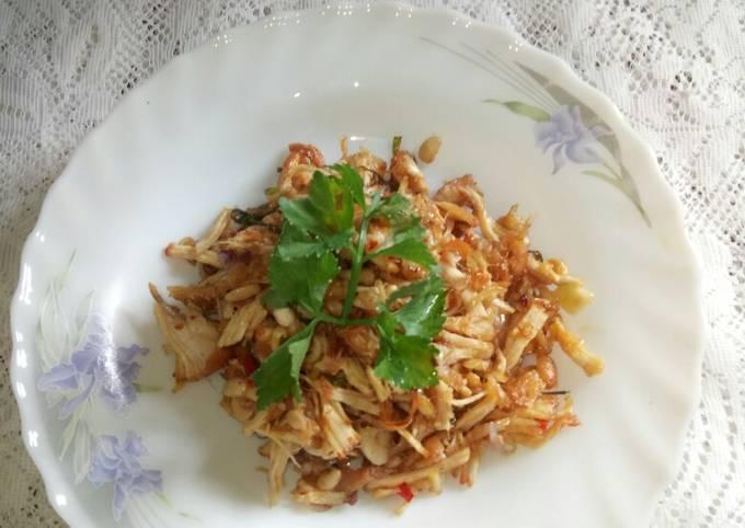 Resep: Ayam suir sambal matah