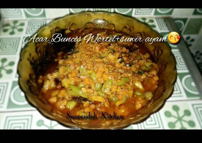 Resep: Acar buncis wortel+suwir ayam😙
