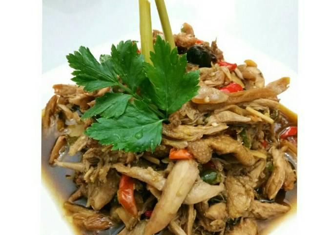 Resep: Ayam Suwir Pedas Manis