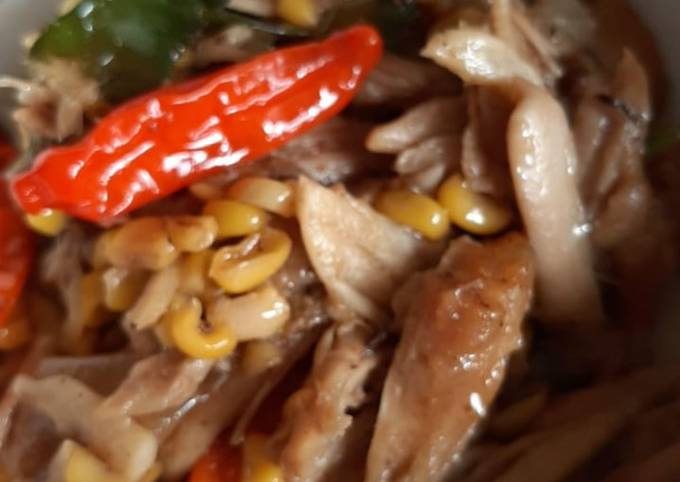 Resep Tumis ayam suwir Jagung