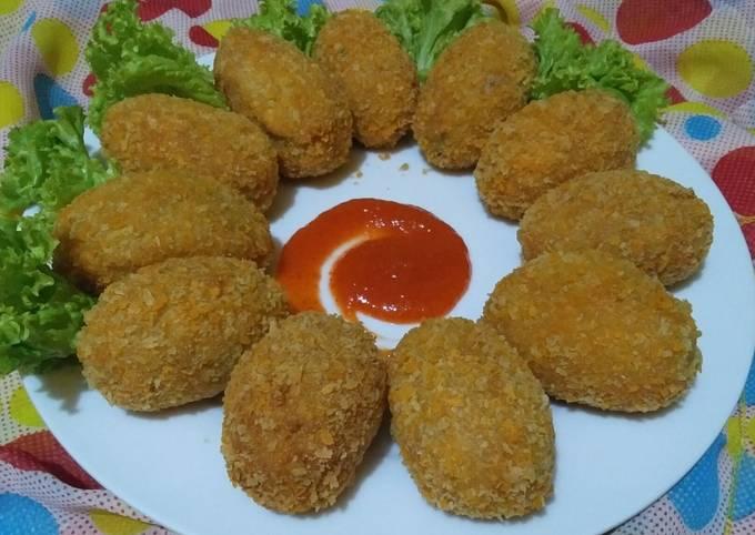 Resep: Kroket Kentang isi Ayam Suwir dan Wortel