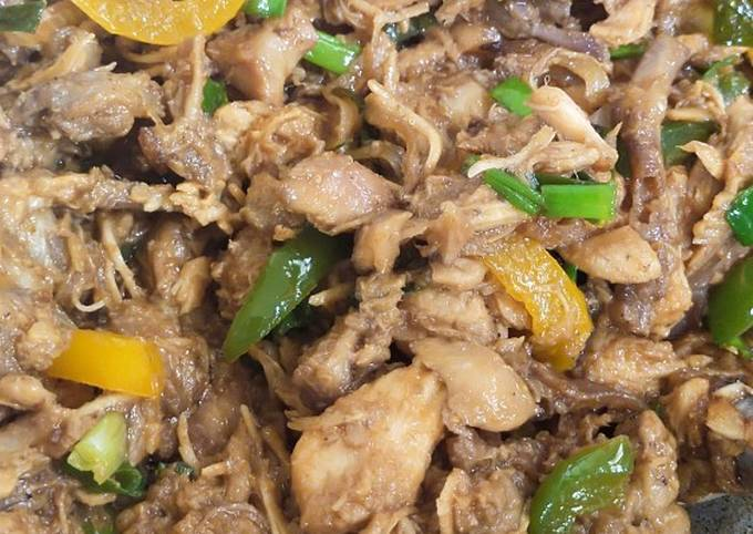 Resep: Ayam suwir paprika