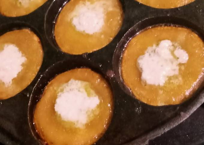 Bingka gula habang aka bikang gula merah (khas banjar)