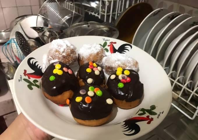 Resep: Tape/peuyeum ball goreng isi coklat