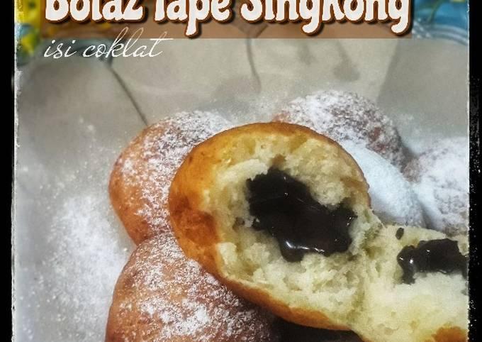 Resep: Bola2 Tape Singkong isi Coklat