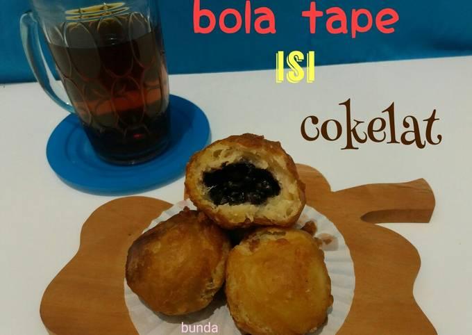 Resep Bola tape isi coklat / Rondo royal