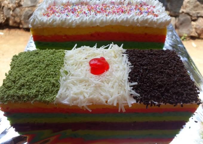 Rainbowcake kukus