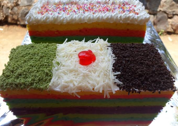 Resep: Rainbowcake kukus