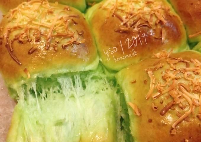 Resep: Pandan Soft Bread (Roti Sobek Pandan, lembut wangii)