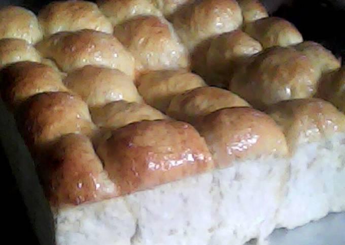Resep: Roti sobek lembut/metode water roux