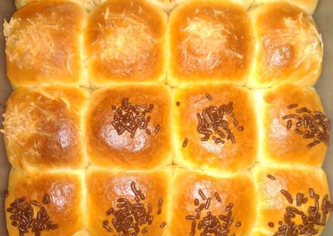 Resep Roti sobek manis (uleni sebentar hasil empuk bgt)