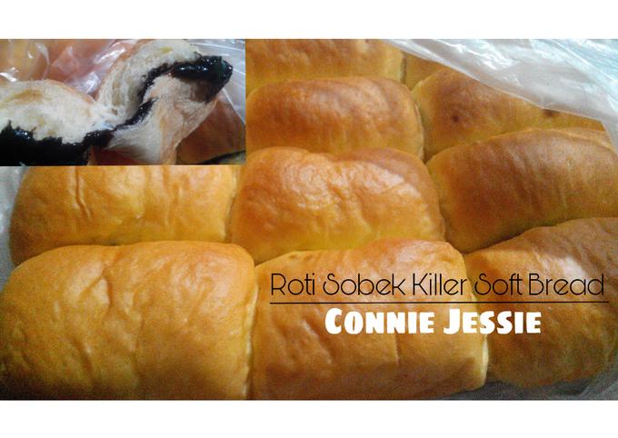 Resep Roti sobek killer soft bread (super lembut, empuk, berserat) kulit empuk dan lembut + tips